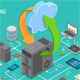 Data Network Cloud Computing Technology Isometric - GraphicRiver Item for Sale