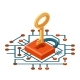 Isometric Web Key Security Technology Digital