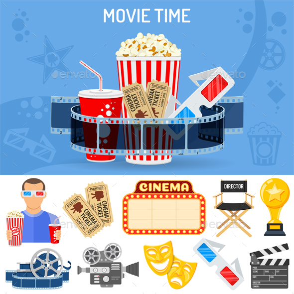 Cinema and Movie Concept - Industries Business
