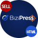 BiziPress - Finance, Consulting, Business HTML Template - ThemeForest Item for Sale