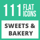 120 Sweets & Bakery Flat Icons