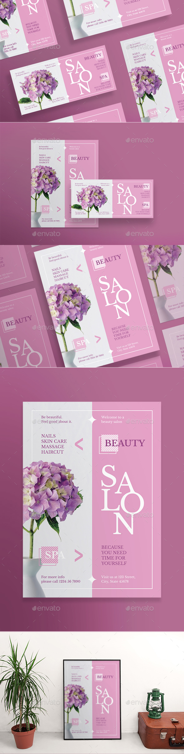 Beauty Salon Spa Flyers - Miscellaneous Events