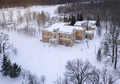 Aerial view of the old abandoned estate in the desert winter lan - PhotoDune Item for Sale
