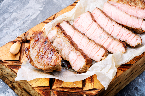 Sliced beef steak - Stock Photo - Images