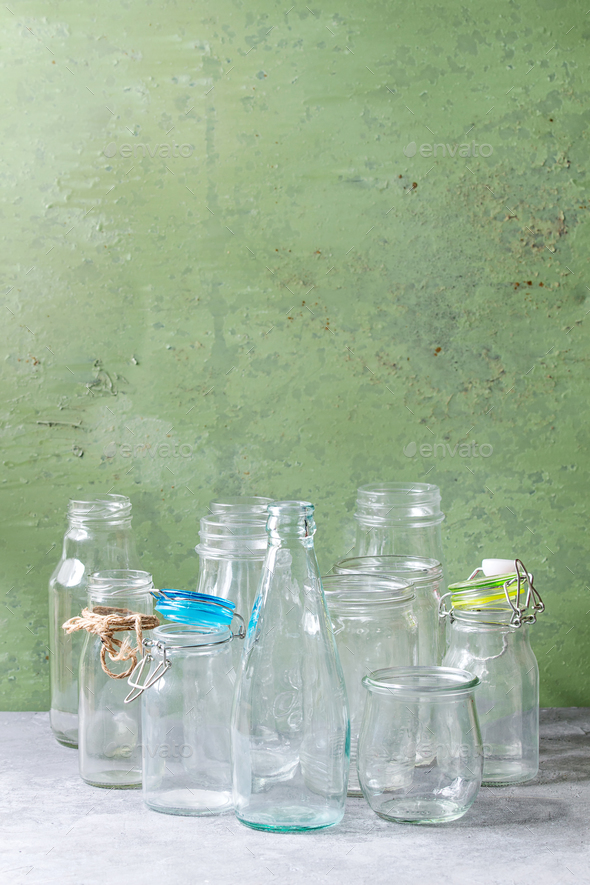 Empty glass bottles - Stock Photo - Images