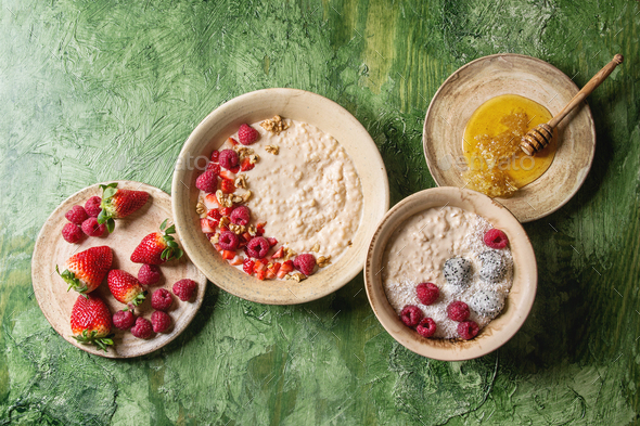 Rice porrige with berries - Stock Photo - Images
