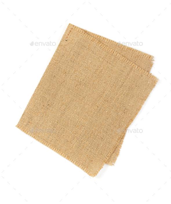 cloth napkin isolated on white - Stock Photo - Images