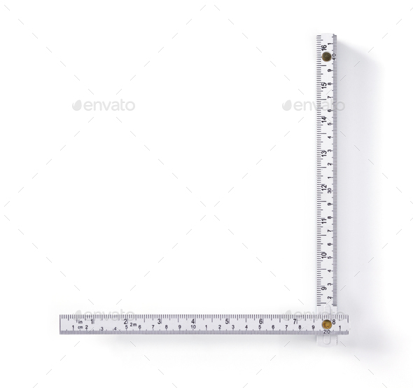 meter ruler isolated on white - Stock Photo - Images