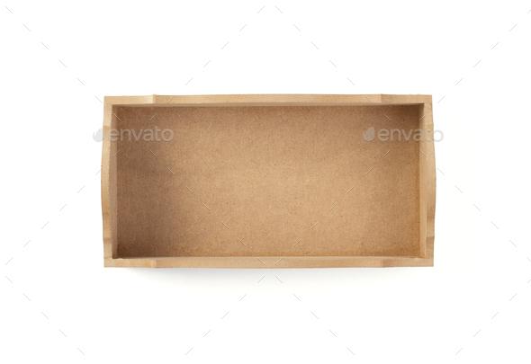 box isolated on white - Stock Photo - Images