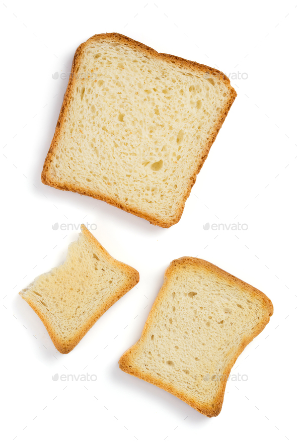 sliced bread isolated on white - Stock Photo - Images