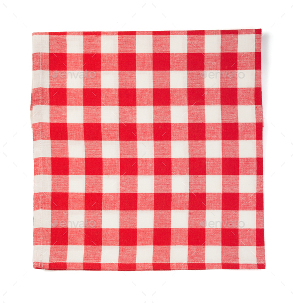 cloth napkin isolated on white - Stock Photo - Images