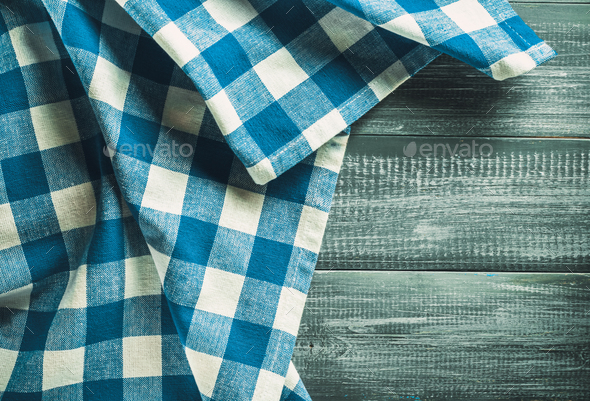 cloth napkin on wood - Stock Photo - Images