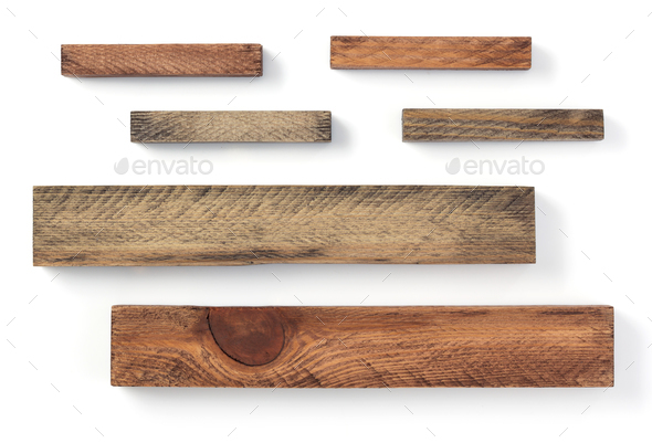 wooden plank board on white - Stock Photo - Images