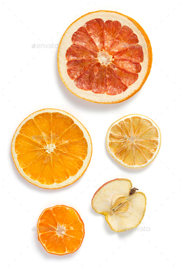 dried fruit isolated on white - Stock Photo - Images
