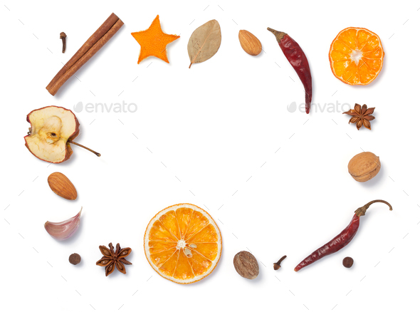spices isolated on white - Stock Photo - Images