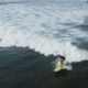 Surfer Woman Riding on the Blue Waves - VideoHive Item for Sale
