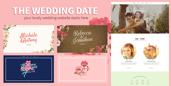 The Wedding Date - Responsive Wedding HTML Template - Wedding Site Templates