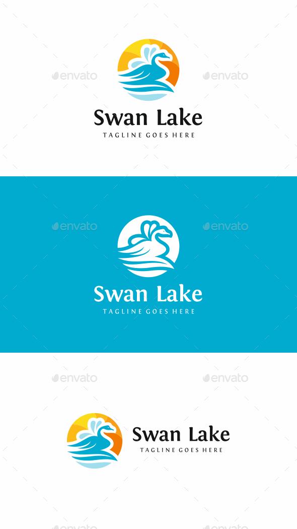 Swan Lake Logo - Animals Logo Templates