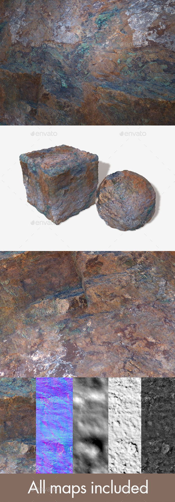 Painted Desert Orange Rock Seamless - 3DOcean Item for Sale