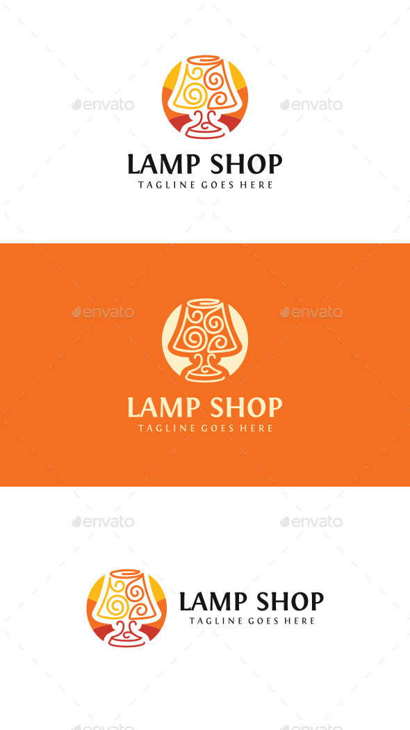 Lamp Shop Logo - Objects Logo Templates