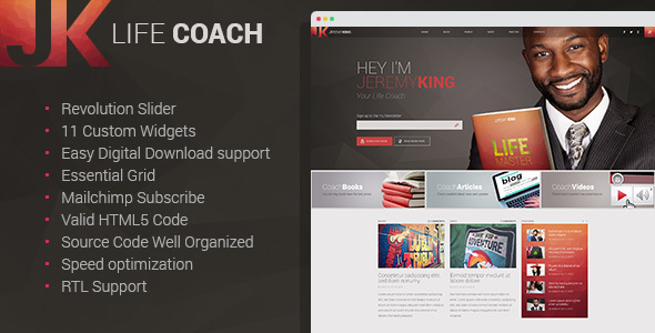 Life Coach - Personal Page WordPress theme