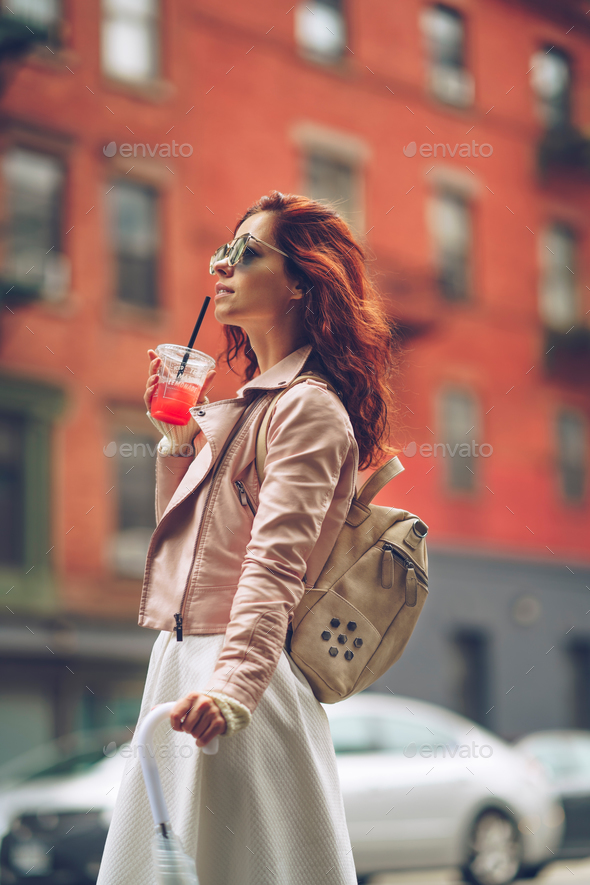 Woman in New York - Stock Photo - Images