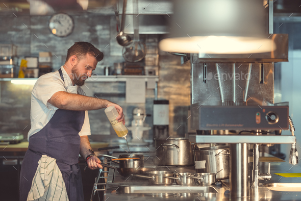 Chef at work - Stock Photo - Images