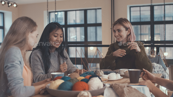 Smiling young girls - Stock Photo - Images