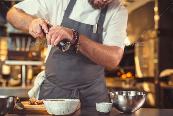 Chef in restaurant - Stock Photo - Images