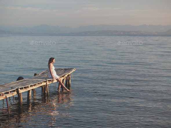 Happy woman outdoors - Stock Photo - Images