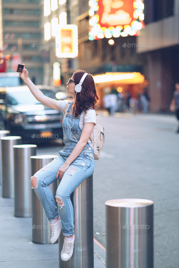 Woman in Manhattan - Stock Photo - Images