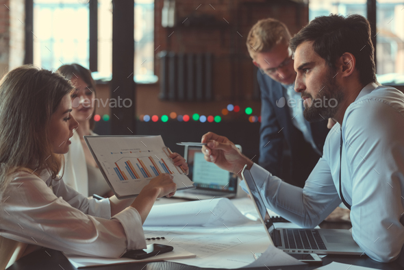 Group of people at work - Stock Photo - Images