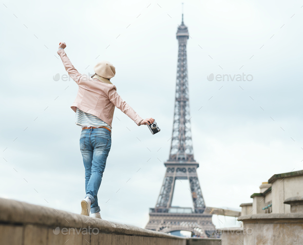 Young woman on vacation - Stock Photo - Images