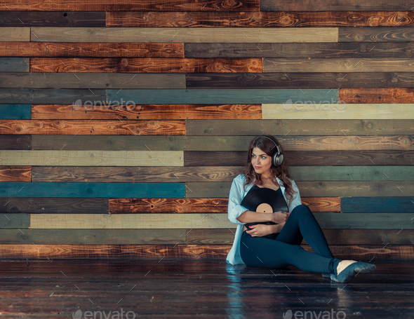 Young girl in studio - Stock Photo - Images