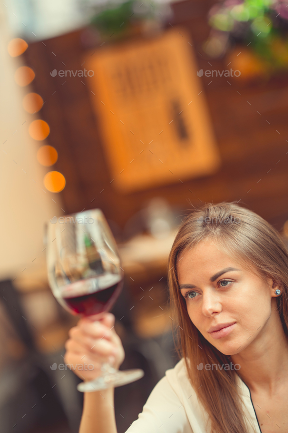 Young woman indoors - Stock Photo - Images