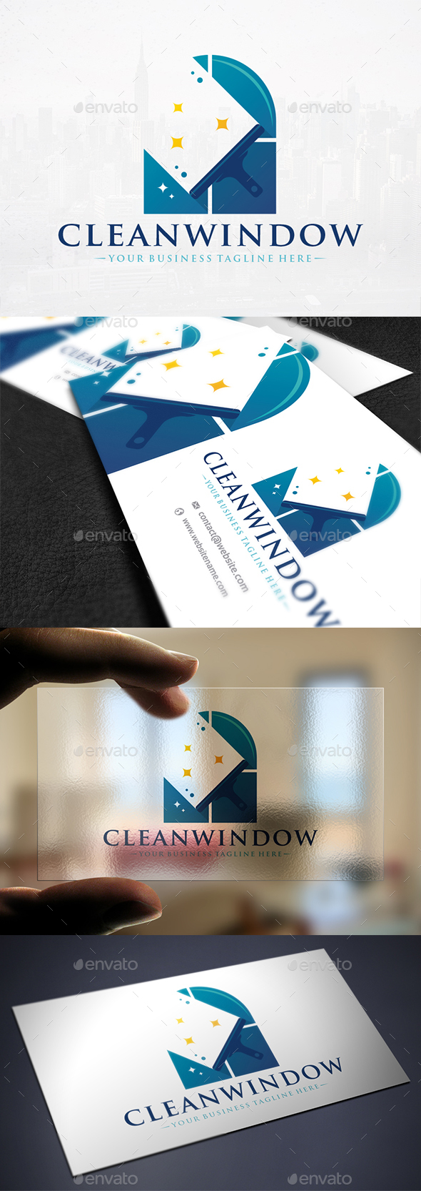 Cleaning Glass Logo Design - Company Logo Templates