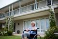 Thoughtful senior woman sitting on wheelchair - PhotoDune Item for Sale