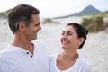 Romantic couple enjoying on beach - PhotoDune Item for Sale