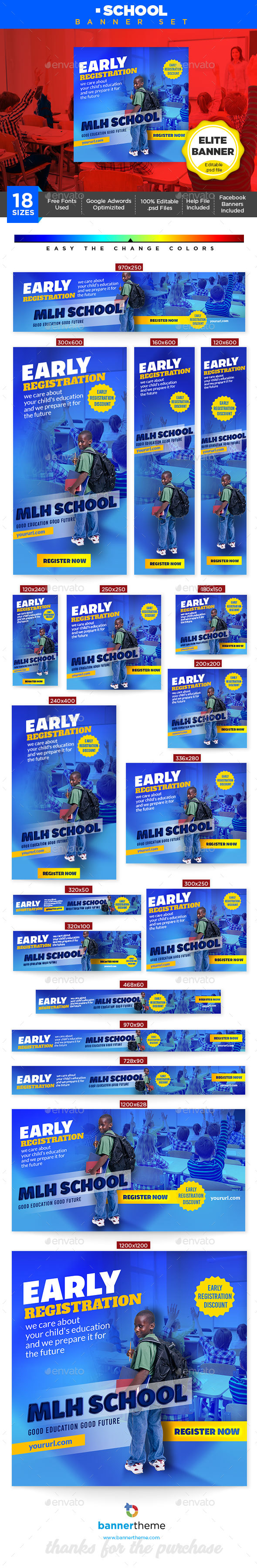 School Banner - Banners & Ads Web Elements