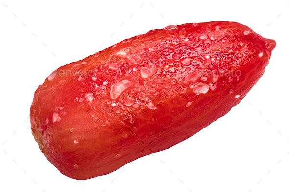 Salted peeled S. Marzano tomato, path - Stock Photo - Images