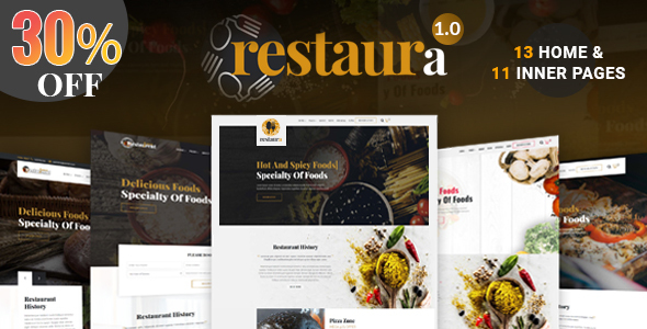 Image of Restaurant HTML |   Restaura for Restaurant, Food & Cafe