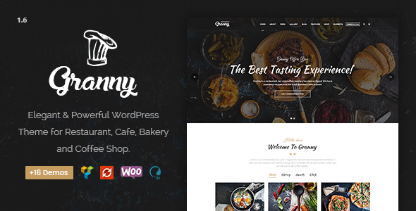 Restaurant Granny - Elegant Restaurant & Cafe WordPress Theme - Restaurants & Cafes Entertainment