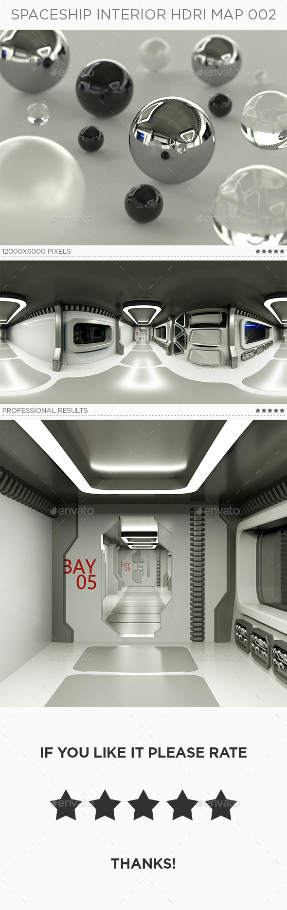 Spaceship Interior HDRi Map 002 - 3DOcean Item for Sale