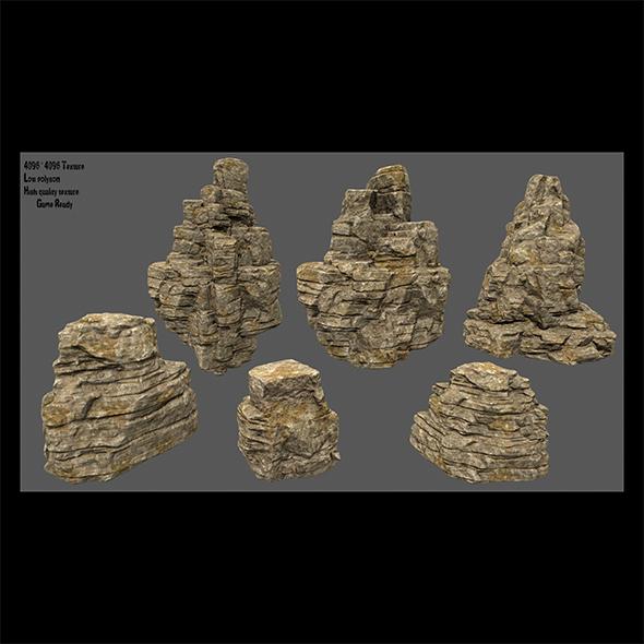 desert rocks set - 3DOcean Item for Sale