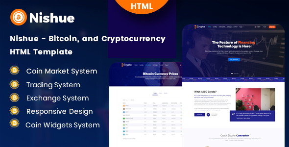 Nishue - Bitcoin and Cryptocurrency HTML Template - Site Templates