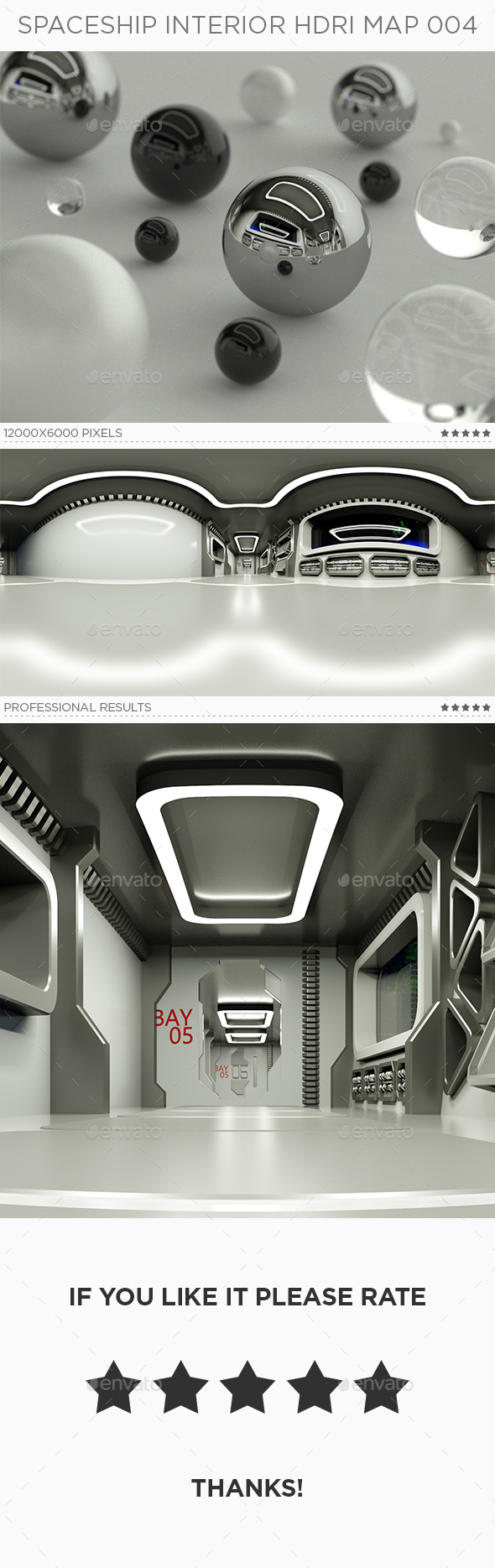 Spaceship Interior HDRi Map 004 - 3DOcean Item for Sale