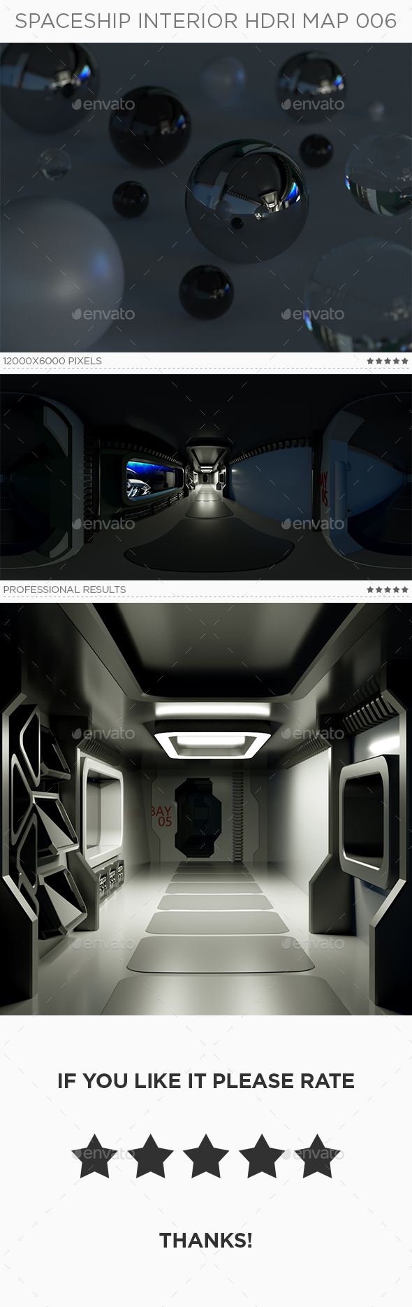 Spaceship Interior HDRi Map 006 - 3DOcean Item for Sale