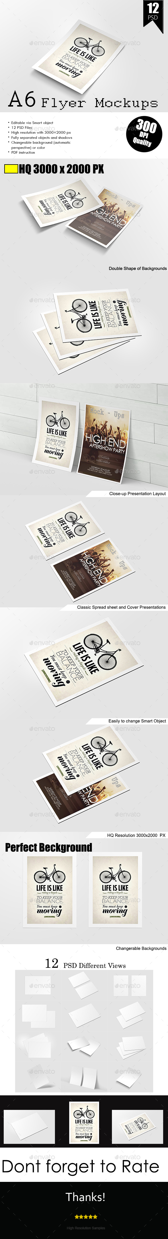 A6 Flyer / Poster  Mock-Up - Flyers Print