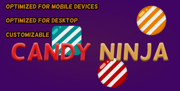Candy Ninja (HTML5 Game + Construct 2 CAPX) - CodeCanyon Item for Sale