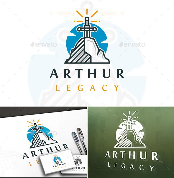 Arthur King Stone Logo - Symbols Logo Templates